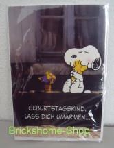 Peanuts   Geburtstagskarte Snoopy und Woodstock, Brickshome Shop