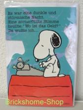 Peanuts   Geburtstagskarte Snoopy mit Schreibmaschine, Brickshome Shop
